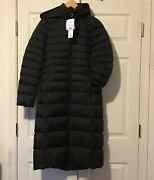 Nwt Uniqlo Womenand039s Ultra Light Down Puffer Hooded Long Coat Jacket Black Size S