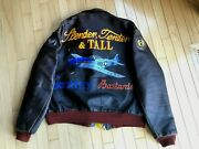 Wwii A2 Jacket Aero Leather Signed By 10 Aces Painted Nose Art Bud Anderson