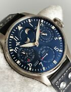 Big Pilot Perpetual Calendar 46mm Blue Dial Stainless New Complete Iw503605