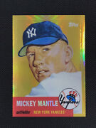 Mickey Mantle 2008 Topps 1953 Gold Refractor Mmr-53 Raw See Photos