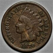 1870 Indian Head Cent Us 1c Penny Coin Flat Rate Shipping Lot 2110