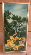 """California Wild Flowers Oil Painting By The Flitcrafts """"mel And Jac"""" Torrey Pines"""