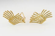 And Co Schlumberger V-rope Gold Earrings Ear Clips No Diamond