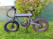 1000w - 48v - 20ah Electric Fat Bike Ebike 20and039and039 Mountain - Snow - 31mph / 50kmh