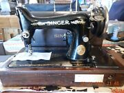 Singer Heavy Duty Sewing Machine 99-13 Bentwood Case 1925-access/instructions