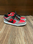 Nike Sb Dunk Low Supreme Red Cement - Worn 2x