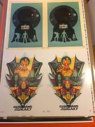 Rare Un-cut Printers Color Proof Imax Posters Guardians Of The Galaxy Check Proo