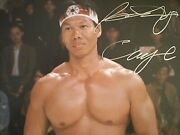 Signed Photo Bolo Yeung As 'chong Li' In Cult Film Bloodsport Certified Acoa
