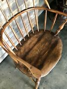 Fine Antique 18th Century Handmade Early Sack-back Windsor Chair Heavy Patina