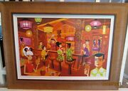 Shag Josh Agle 'in The Enchanted Tiki Bar One Of A Kind Limited Edition 190/195
