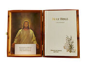 Holy Bible Concordance Of Peace Edition Wood Box 1976 Today In. S1
