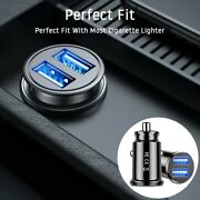 Car Charger Dual Usb Twin Port 12v Universal In Lighter Socket Adapter Plug New
