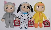 Cocomelon Jj Puppy, Duckie, And Kitty 8 Plush Soft Toy Set Lot Of 3 New