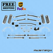 3 Trail Ii Syst W/ 2.25 Non Resi Shocks Fabtech For 07-17 Jeep Jk 2-door 4wd