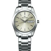 Grand Seiko Watch Sbgt235 Menand039s Silver Analog Round Face Stainless Steel