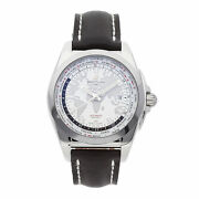 Breitling Galactic Unitime Mens Automatic Steel Strap Watch Wb3510u0/a777