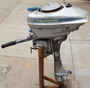 Vintage Champion Outboard Motor Blue Ribbon 1-j W/manual + Parts Book Complete
