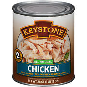 Keystone Chicken 28oz 6-can Lots Ready Cooked Snack Lunch Dinner Bbq Ships Free