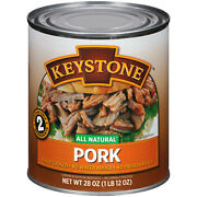 Keystone Pork 28oz 6-can Lots Ready Cooked Snack Lunch Dinner Bbq Ships Free
