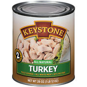 Keystone Turkey 28oz 6-can Lots Ready Cooked Snack Lunch Dinner Bbq Ships Free