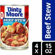 Dinty Moore Beef Stew 15oz 4-can Lots Ready Snack Lunch Dinner Bbq Ships Free
