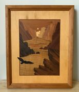 Hudson River Inlay Jeff Nelson 16 X 13 Canyon Flight Marquetry - Vguc