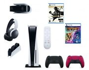 🔥new Ps5 Sony Playstation 5 Bundle Headphones Remote Camera Charger Games🔥