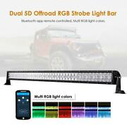 Auxbeam 42 Inch 240w Rgb Led Work Light Bar Rock Lights For Jeep Ford Truck Atv