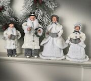 Winter Carolers Set Of 4 Decoration Christmas Ornaments Holiday Victorian