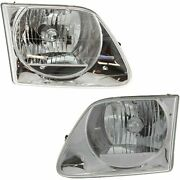 Halogen Headlight Assembly Lh And Rh Side Set Of 2 Fits Expedition F-150 Heritage