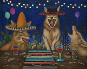 Party Coyoteand039s Coyote Humor Laughing Drinking Sombrero Hat Blanket Mexican Glass