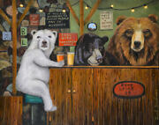 Bear Lodge Beer Drinking Party Humor Funny Grizzly Brewery Ale Happy Hour Fur