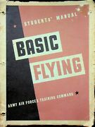 Vtg Ww2 Students Manual Basic Flying Army Air Force Training Command 1944