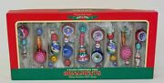 Radko Shiny Brite Set Of 9 Icicle Bead Indent Ornaments New In Boxwow