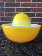 Vintage Pyrex 🍍 Party Chip And Dip Usa 401 404 Yellow Orange Very Rare