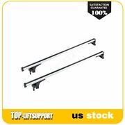 Roof Racks Luggage Carrier + Bicycle Package 4x Set For Silver 50 Universal