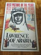 Peter Oand039toole Omar Sharif Lawrence Of Arabia 1962 Columbia Style D One Sheet