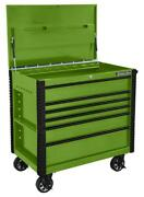 Extreme Tools Ex4106tcgnbk 41in. 6 Drawer Flip Top Deluxe Tool Cart With Bum...