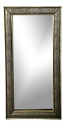 Large Hollywood Regency Style Silver Moroccan Filigree Wall Mirror