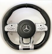 1318 Mercedes Amg Oem E63 S63 C63 Cls63 G63 Piano Black Leather Steering Wheel