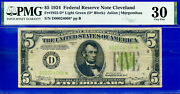 Highly Wanted - 1934 5 Frn Lgs Cleveland - Star Pmg 30 D00024088-