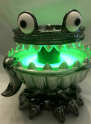 New Rare Candle Or Candy Holder Light-up Monster Pedestal 3-wick Stand Green