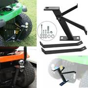3/4 Tractor Towing Hitch For Lawn Mower Garden Heavy Duty Durable Steel Track