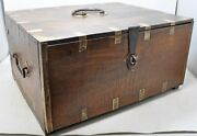 Antique Wooden Big Size Drawers Storage Chest Box Original Old Hand Crafted