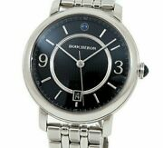 Boucheron Epure Menand039s Automatic Ss Black Dial Sapphire See-through Back Wa021202