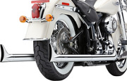 Cobra Softail Duals Motorcycle Exhaust Fishtail Tips