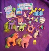 My Little Pony G1 Party Gift Pack Plus Many Accessories Best Wishes Yum Yum