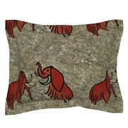 Extinct Animals Extinct Mammoth Primitive Cave Man Wooly Pillow Sham By Roostery