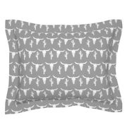 Cow Skull Longhorn Skulls Cactus Baby Nursery Grey Pillow Sham By Roostery
