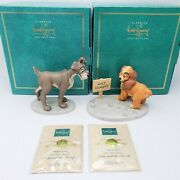 Wdcc Lady And The Tramp 2 Piece Set Lady In Love And Tramp In Love Coa And Boxes